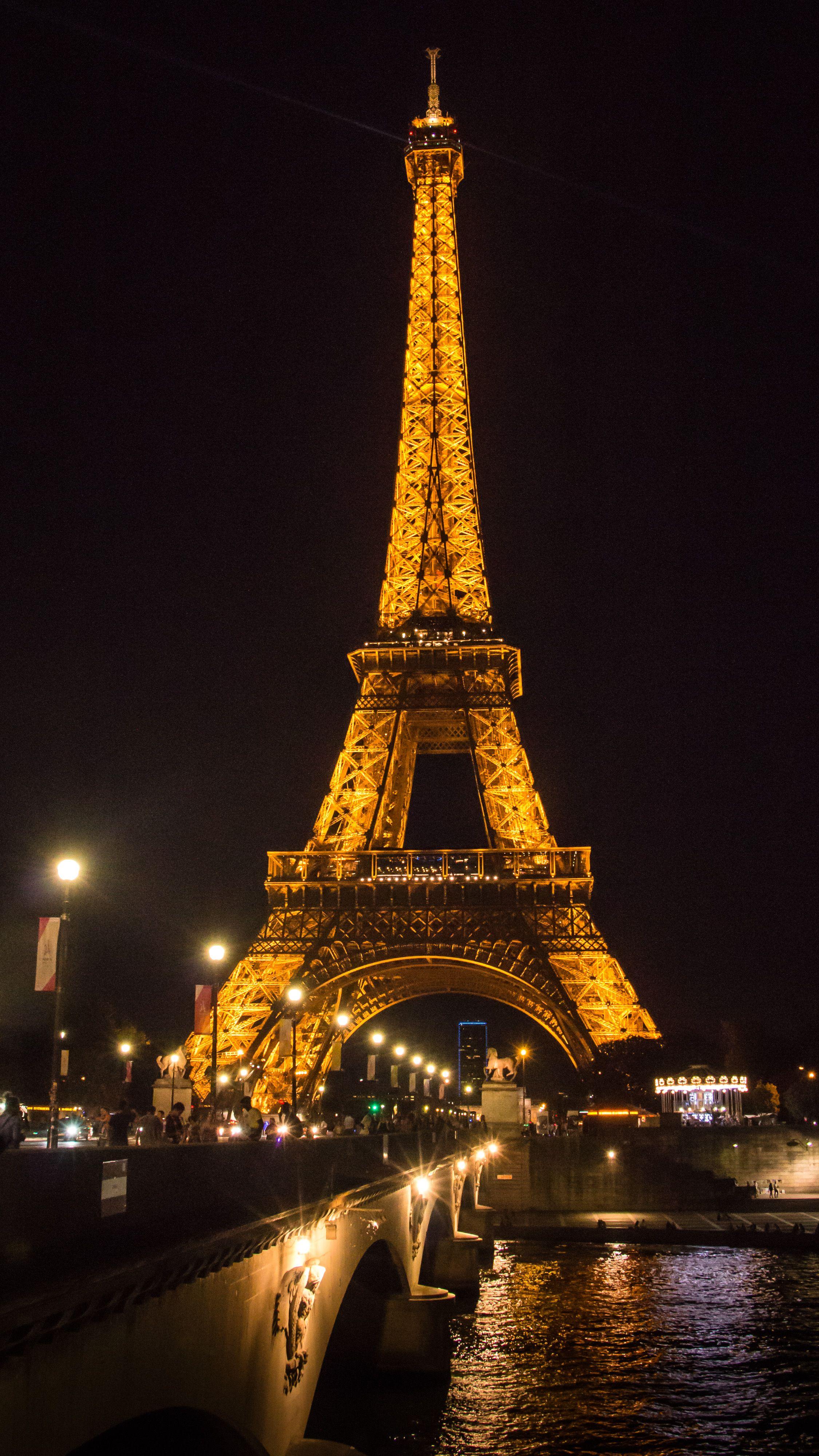Tour Eiffel De Nuit Paris 2017 Smartphone Wallpaper Ecran D