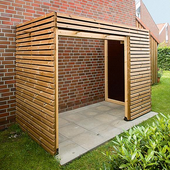 fahrradschuppen selber bauen anleitung mit bauplan cabin pinterest garden small. Black Bedroom Furniture Sets. Home Design Ideas