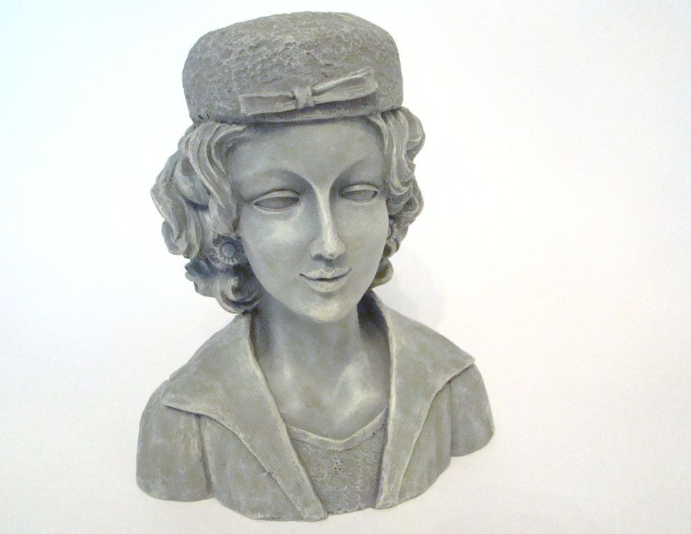 Lady Head Vase - Resin Planter Garden Lady Head Vase - with drain hole #1 #NotApplicable