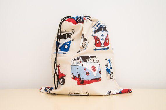 blanchisserie Van Camper cadeau ou l'homme bleu Amusant pour rouge idéal sac VW et XgAXYq6