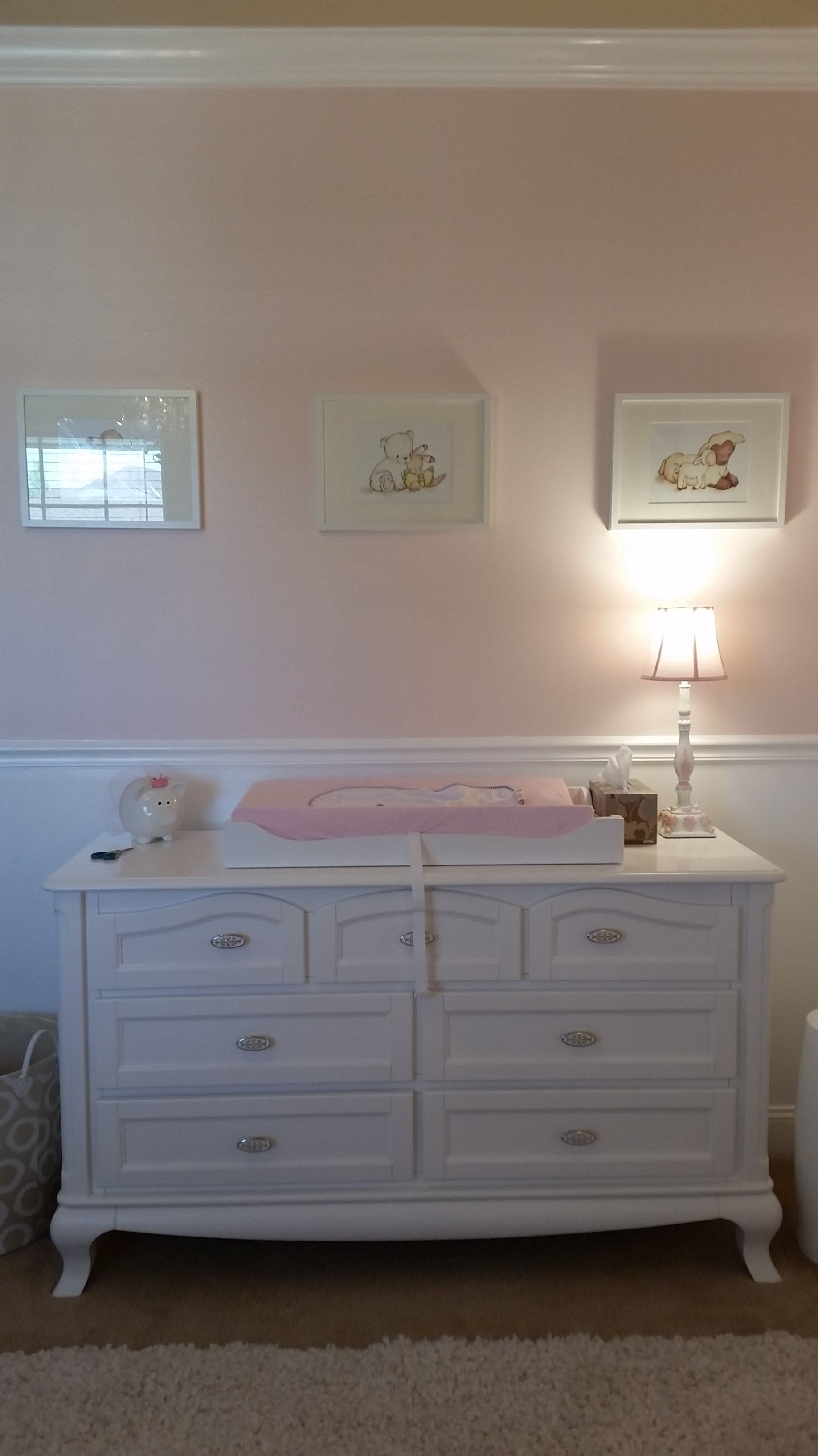 chair rail nursery. Wonderful Rail Crown Molding  Baby Girl Room Conversion  Completion Girl Nursery   Nurseries  DIY Chair Intended Chair Rail Nursery E