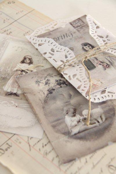 """Nostalgie Karte """" Spring"""" 3 er Set - Vintage Home"""