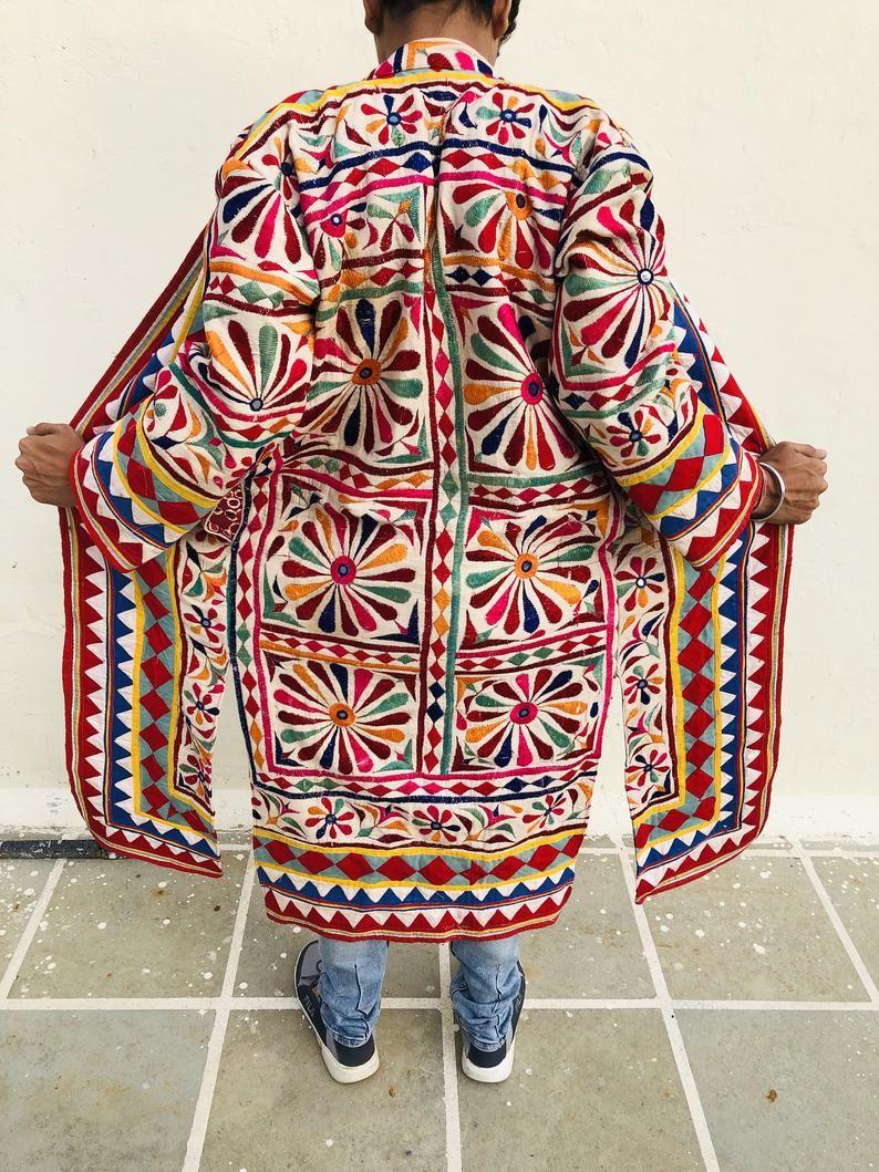 Banjara jacket  embroidered multicoloured coat  embellished coat  hand embroidered