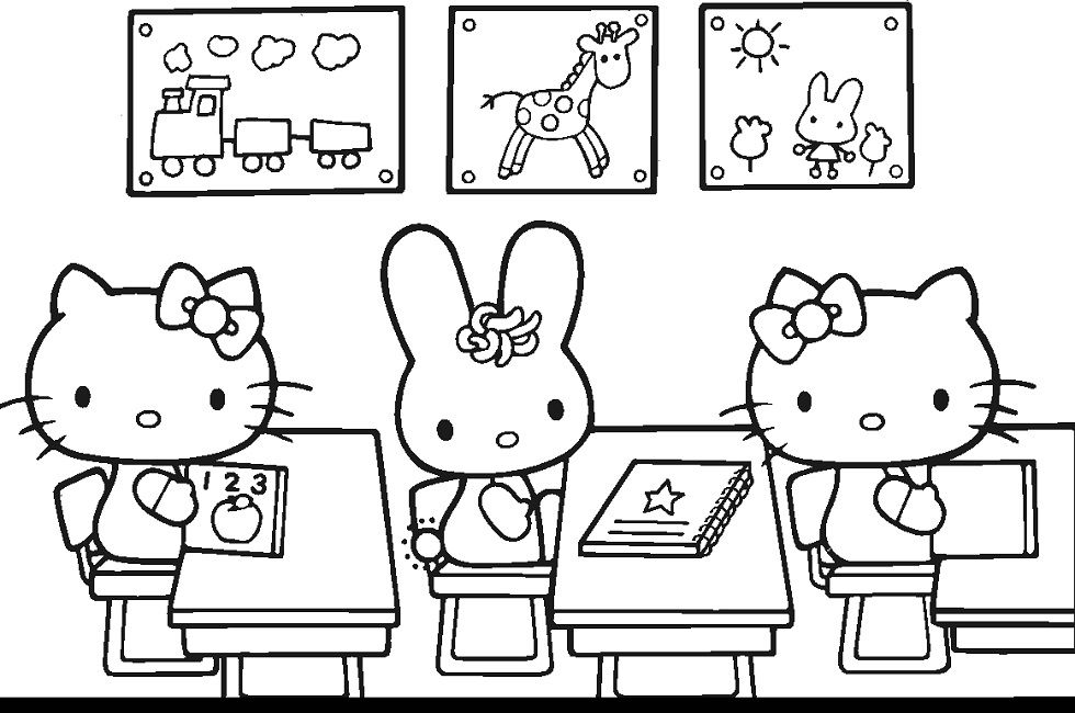 hello kitty printable coloring book pages | Education | Pinterest