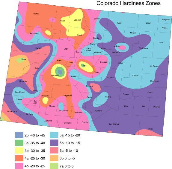 Gardening Zone 5 Colorado United States National Arboretum Usda Plant Hardiness Map 1990