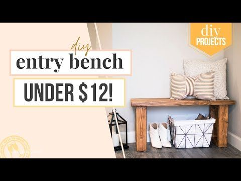 make this gorgeous diy entryway bench for under $12 » NEVER SKIP BRUNCH