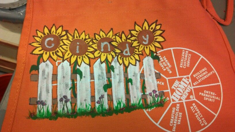 Pin On Home Depot Aprons I Have Painted