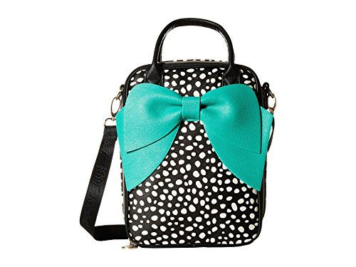 Betsey Johnson Black Spot Bowtastic Lunch Tote