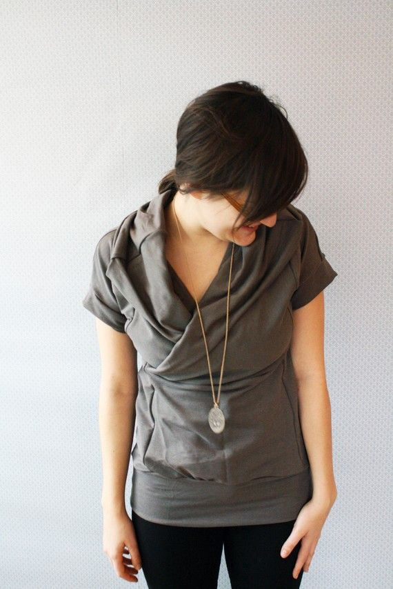 by Replicca on Etsy. I love her cowl tops.
