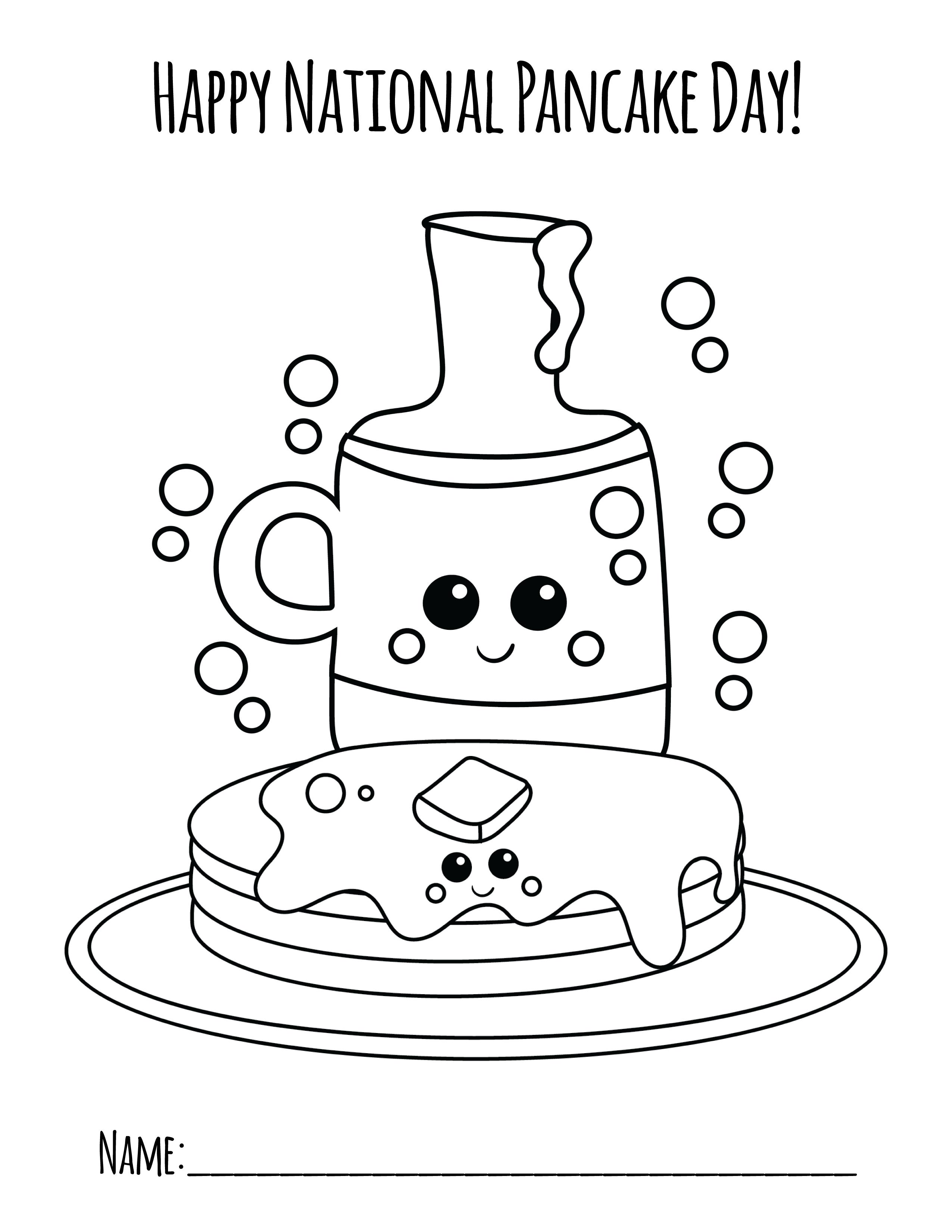National Pancake Day Coloring Page ⋆ Primoparty  Pancake day