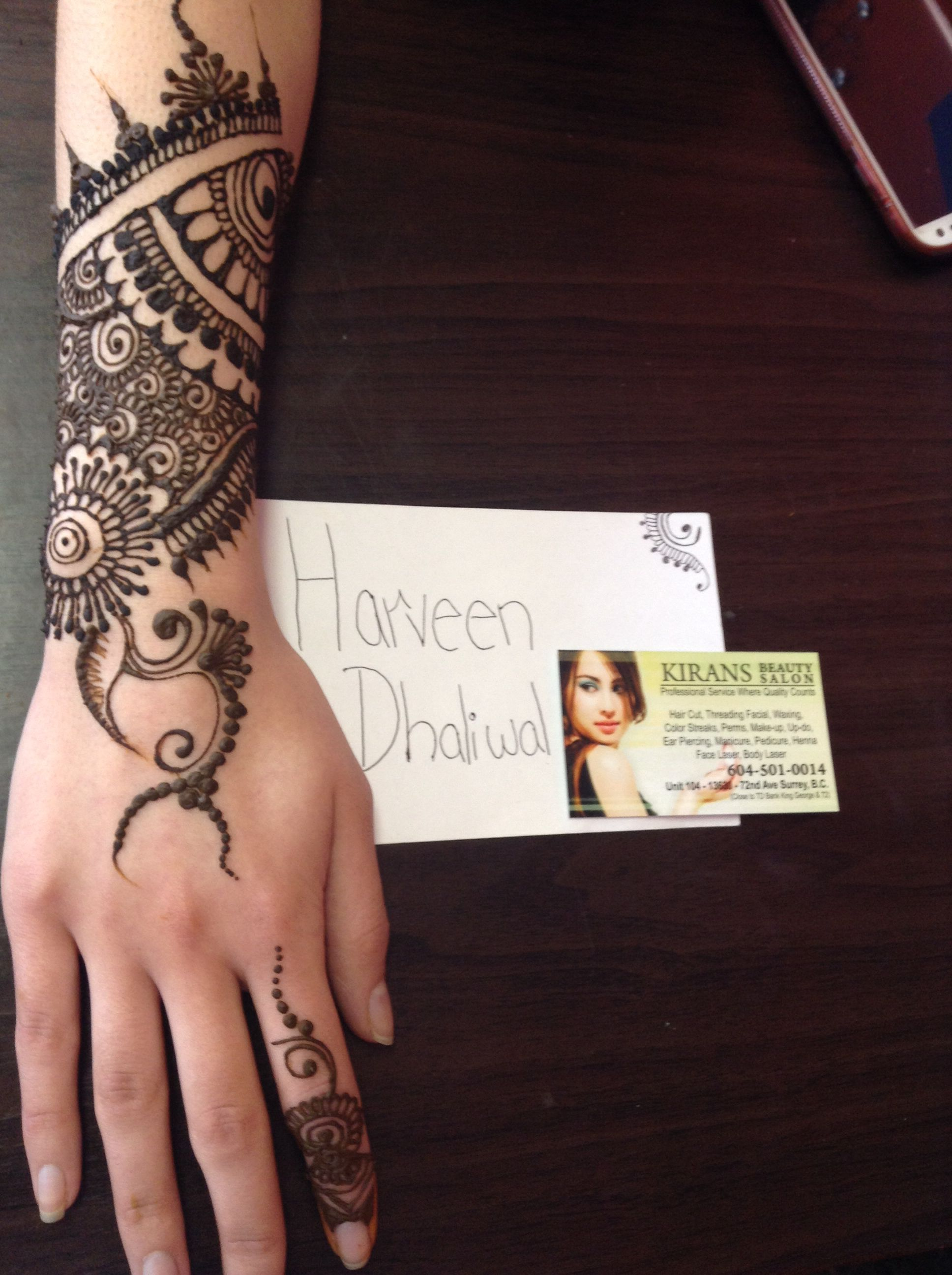Henna Tattoo Vancouver : This is actually my hand aseem took mins check out
