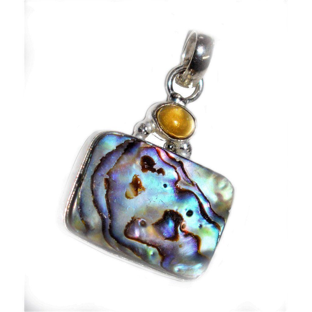 Mother of pearl gemstone silver pendant modern jewelry pinterest