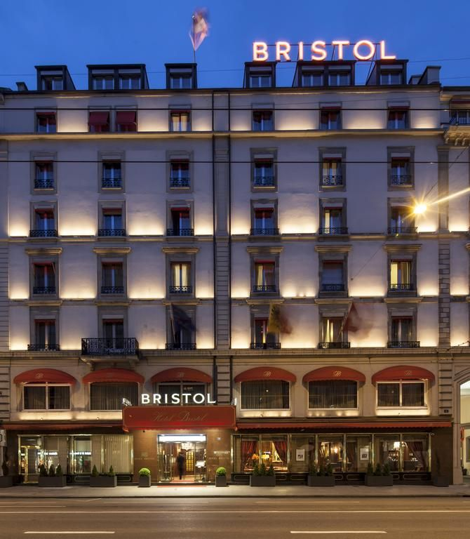 The Superior Hotel Bristol Is Situated In Centre Of Geneva Facing Quiet Mont Blanc Square