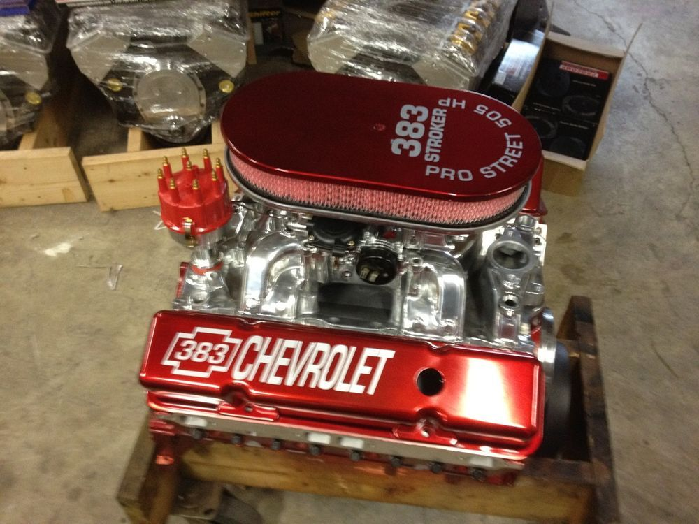 383 Stroker Theme Motor 505hp Roller Pro Street Chevy Crate Engine Sbc Chevy Crate Engines Crate Engines Crate Motors