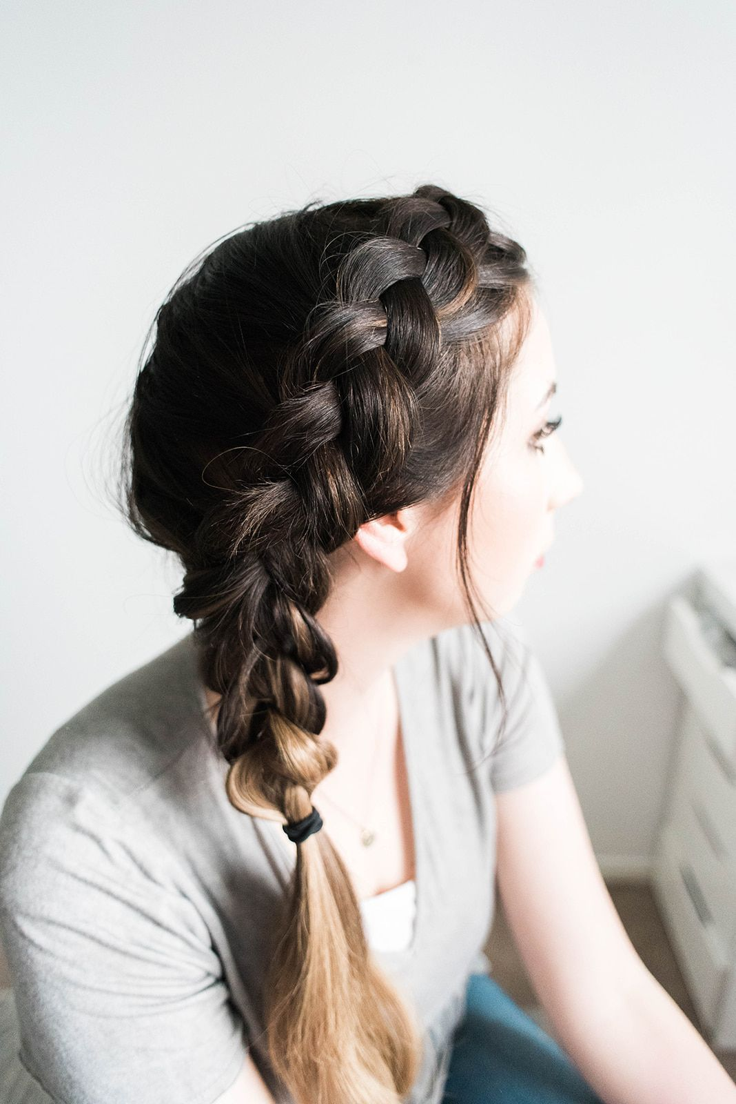 Chunky Side Dutch Braid Tutorial How To Braid Your Hair With