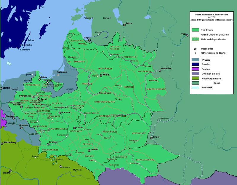 Polish Lithuanian Commonwealth in 1772 Stanisaw August
