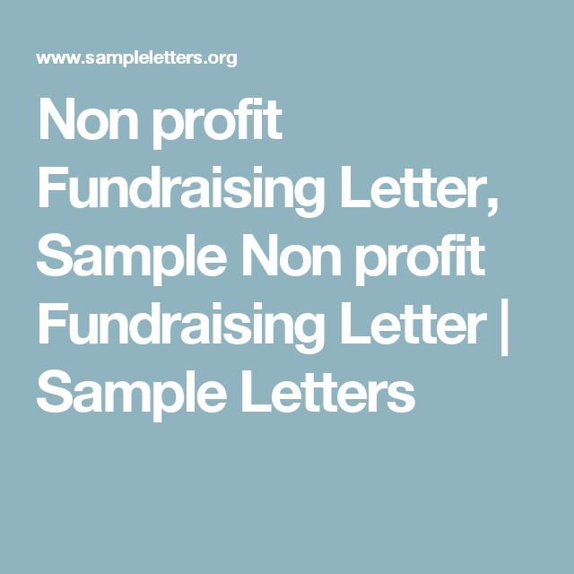 Non Profit Fundraising Letter Sample Non Profit Fundraising