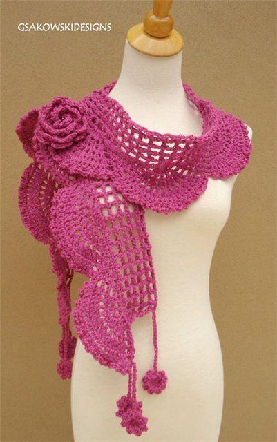 Pin von satnam kaur auf Crochet blouse   Pinterest   Schals, Schal ...
