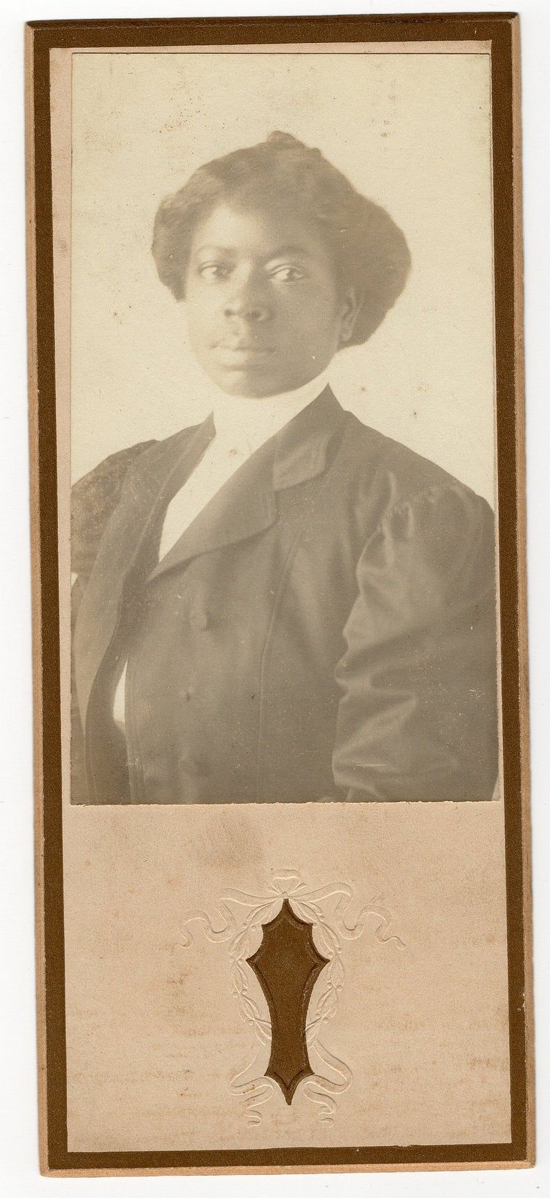 Taken Dec 25, 1908, antique african american cabinet card photo