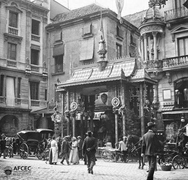 Carrer de la boqueria 1902 pla de la boqueria a la - Calle boqueria barcelona ...
