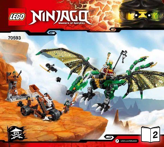 Lego Ninjago Cole Minifigure From Set 70593 The Green NRG Dragon