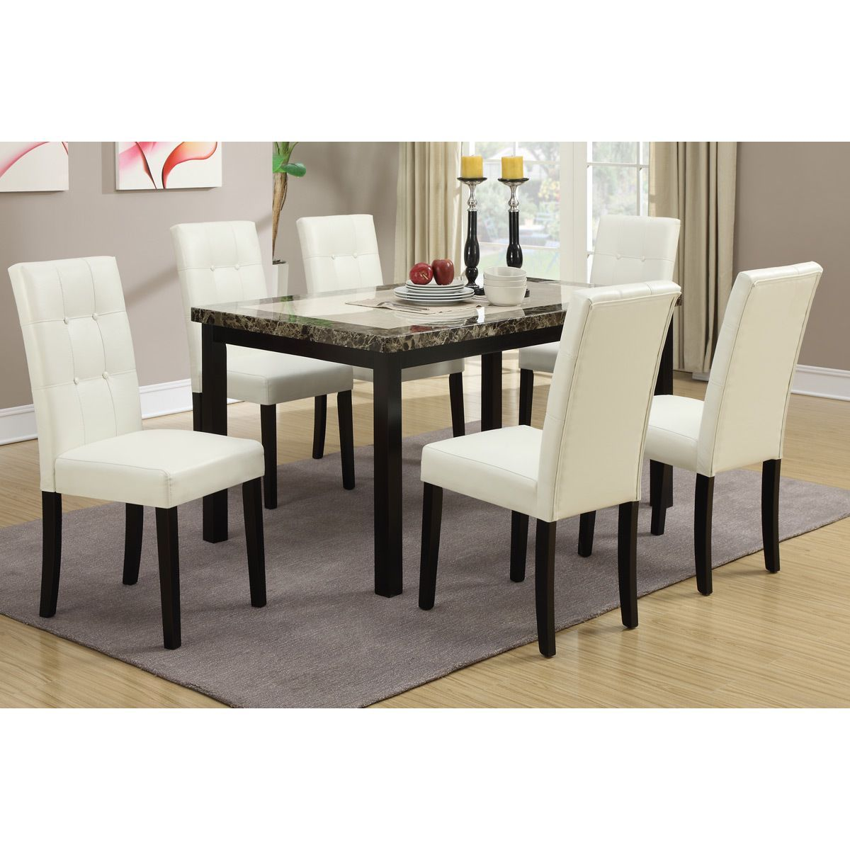 Willow White Cream Dining Chairs Set Of 6 Bonded Leather  Our Magnificent Cream Dining Room Furniture Review