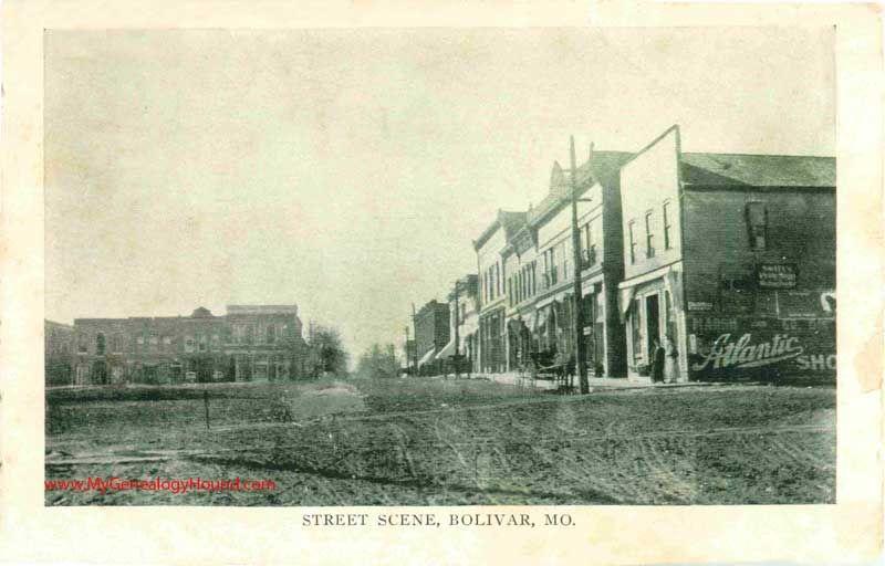 Bolivar Missouri Street Scene Vintage Postcard Historic Photo Street Scenes Historical Photos Vintage Postcard