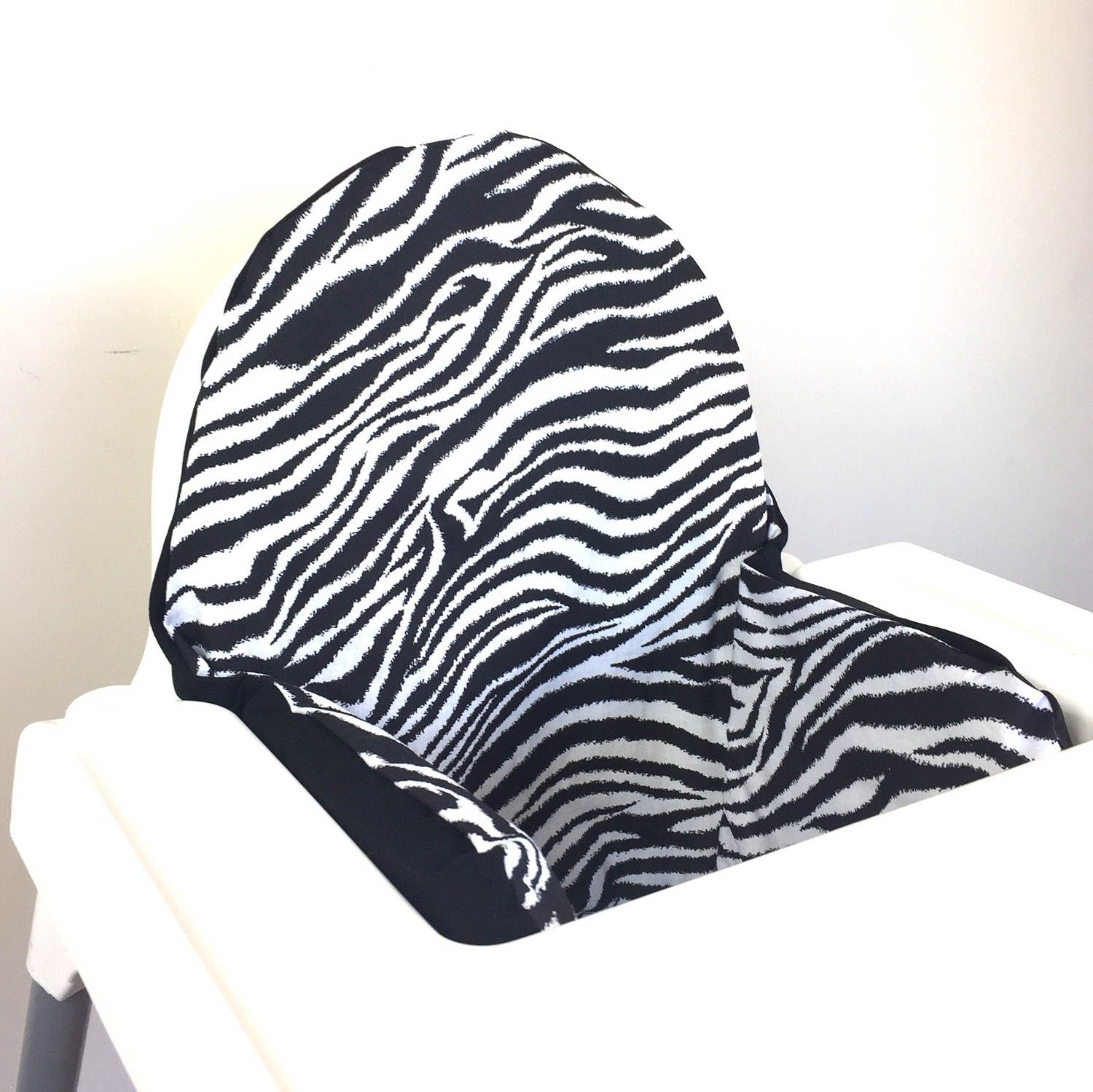 Zebra print IKEA Antilop pyttig High Chair Cushion Cover