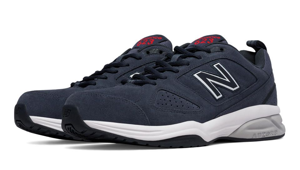 New Balance 623v3 Suede Trainer, Charcoal