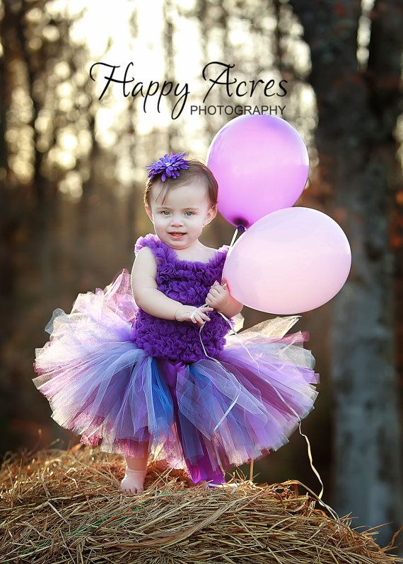 PURPLE BIRTHDAY tutu....newborn tutu - size 5/6.....PERFECT Birthdays tutu, Photography Prop, Dance tutu on Etsy, $23.95