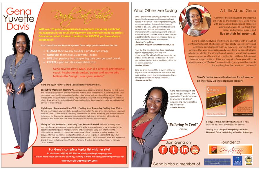 Professional Speaker one sheet samples and graphic design services - one sheet template word
