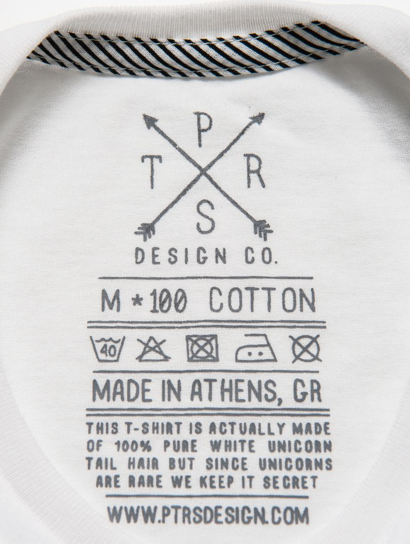 Ptrsdesign Co T Shirt Label Clothing Tag Washing
