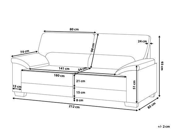 3 Sitzer Sofa Leder Creme Vogar 676508 Design De Sofa Ideias Para Mobilia Como Fazer Sofa