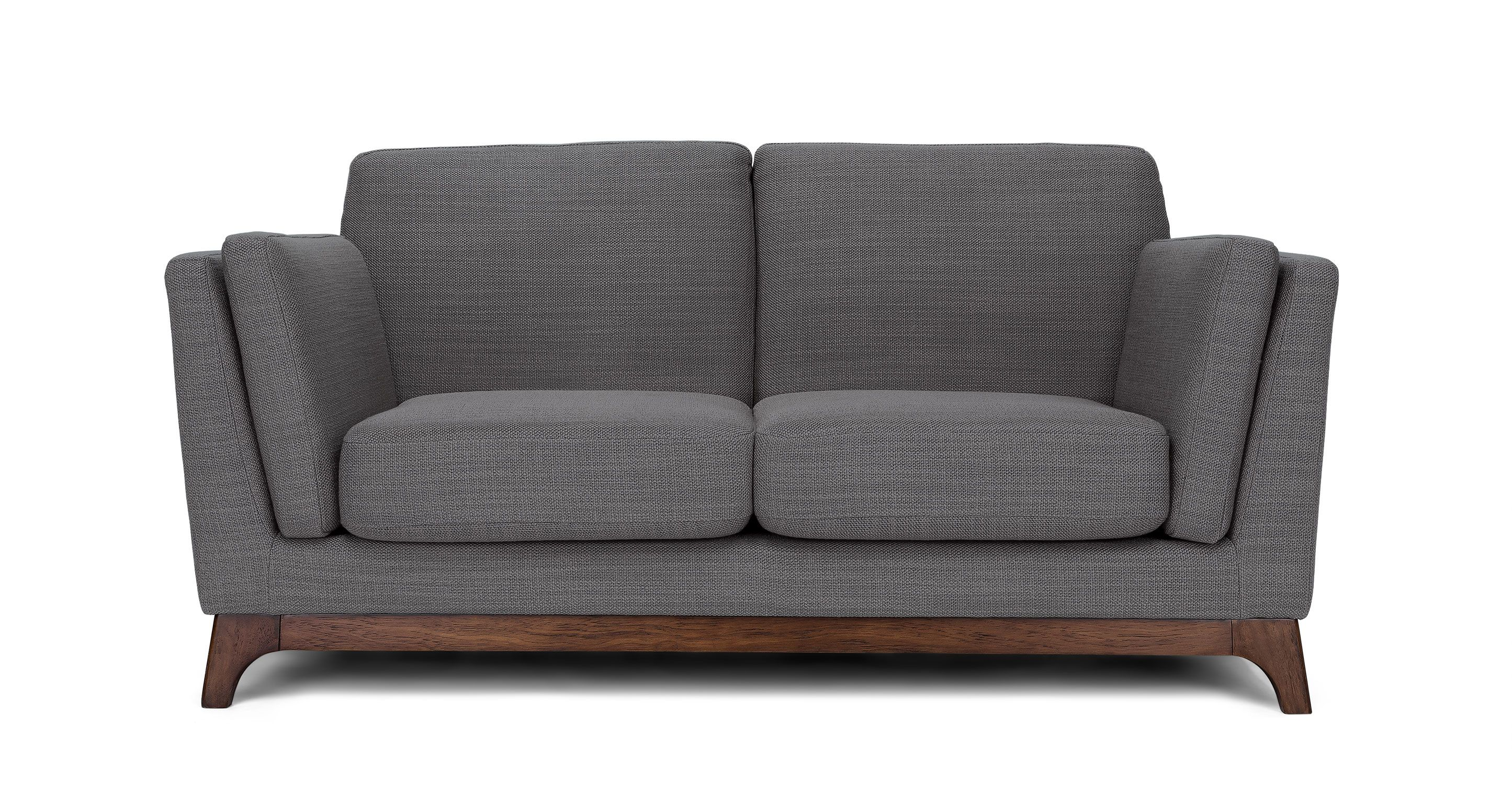Gray Fabric Loveseat - Solid Wood Legs | Article Ceni Modern ...