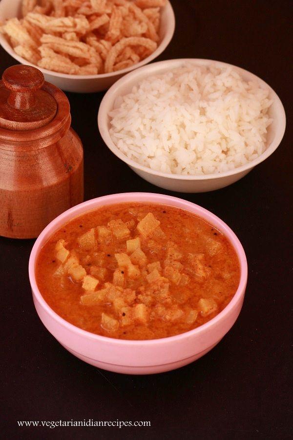 Vazhai thandu poricha kuzhambu tasty side dish for rice made with vazhai thandu poricha kuzhambu tasty side dish for rice made with plaintain stem indianfood indian dishesvegetarian forumfinder Gallery