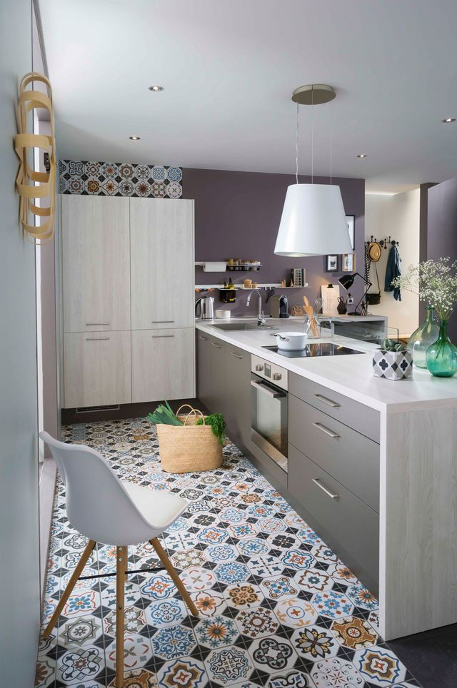 Cuisine quip e moderne nos mod les pr f r s cuisine quip e le carreau et carrelage de ciment - Stratifie carreau de ciment ...