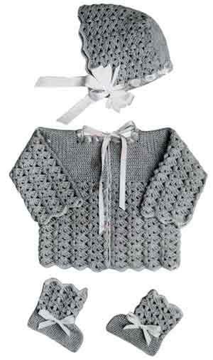 Baby Sweater Set free crochet pattern | Crochet Baby Infant ...