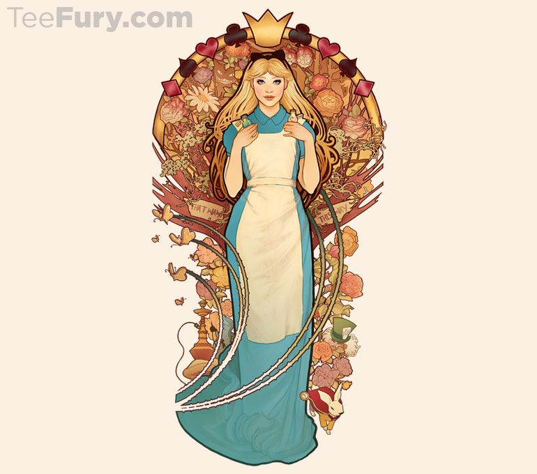 """""""Curiouser and Curiouser"""" by MeganLara is available now. Get yours here: http://www.teefury.com/?utm_source=pinterest&utm_medium=referral&utm_content=curiouserandcuriouser&utm_campaign=organicpost?&c3ch=Social&c3nid=Pinterest"""