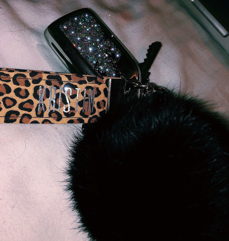 car key/key chain #aesthetic #bling #etsy #glitter