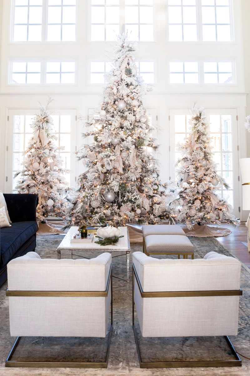 Our Home For Christmas Rach Parcell Elegant Christmas Trees Elegant Christmas Tree Decorations White Christmas Decor