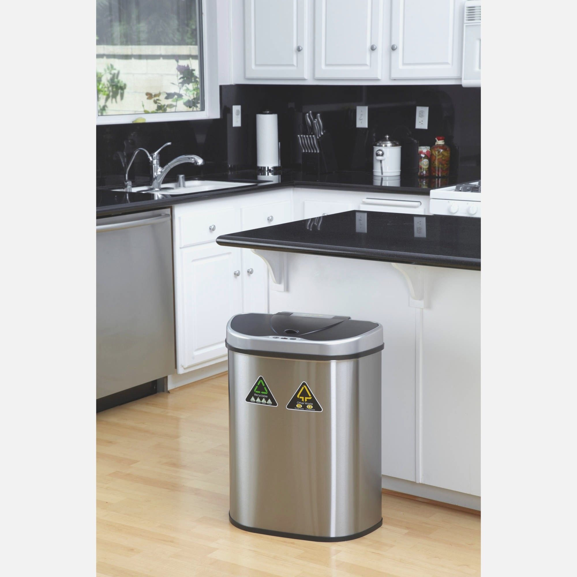 Small Kitchen Trash Cans Kitchen Island With Trash Bin Black Kitchen Island With Trash
