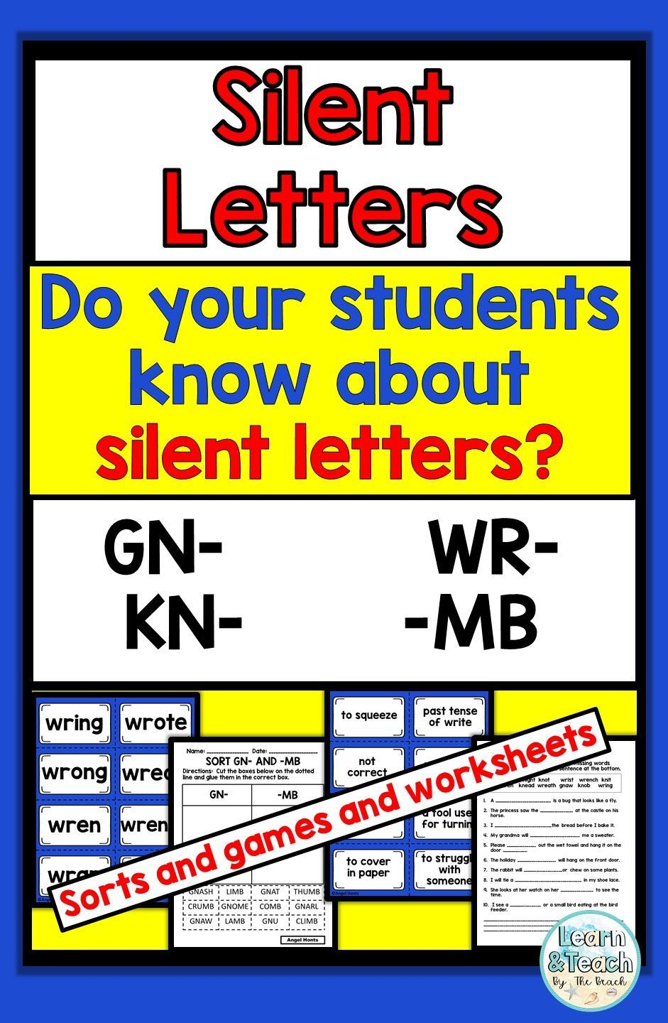 Silent Letter Activities in 2020 Lettering, Word sorts