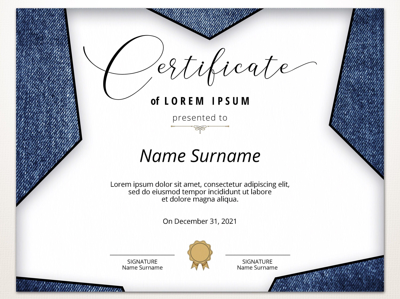 Editable Blank Certificate Template Printable Modern Etsy Blank Certificate Template Certificate Templates Blank Certificate