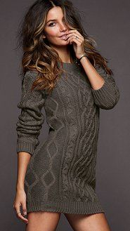 Slouchy Cable Knit Sweater Dress  For all the other girls living in Canada.  Just  69 at Victoria's Secret. b8745473c900