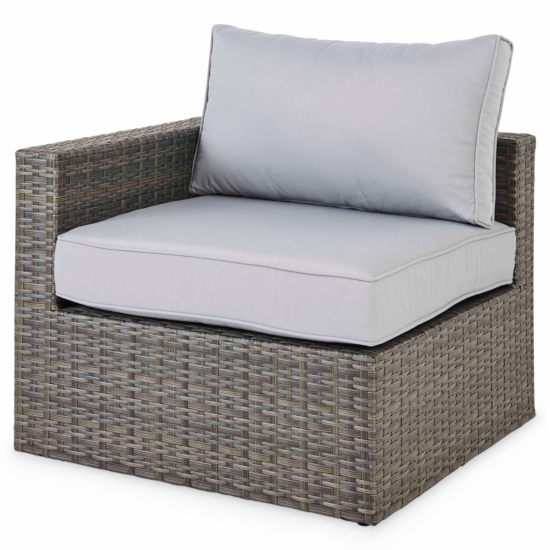 Sulana Rattan Effect Corner Armchair Departments Diy At B Q Armchair Outdoor Chairs Corner Garden