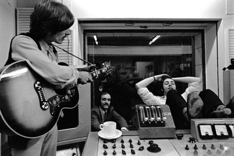George Harrison in the studio