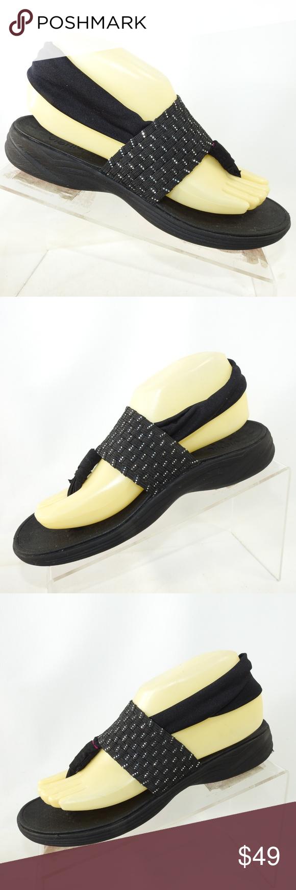 93af77c6db9c Vionic Serene Tia Size 7 Sandals Shoes For Women Vionic Serene Tia Sz 7 M  Black Textile Sling Back Thong Sandals Shoes For Women Please note that  many of ...