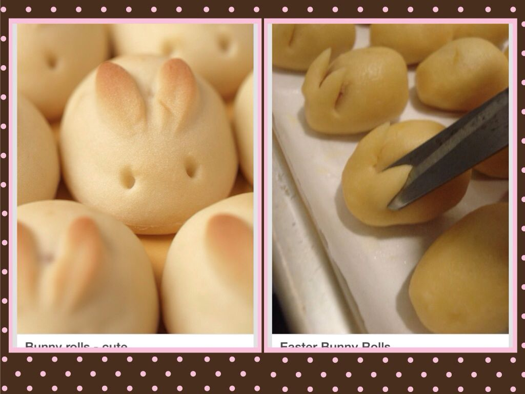Easter bunny rolls cute