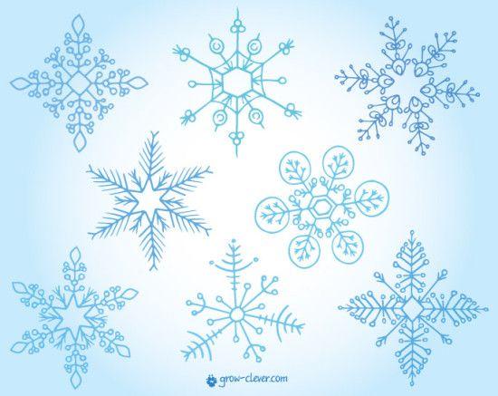 красивые снежинки иллюстрация картинка для детей ...