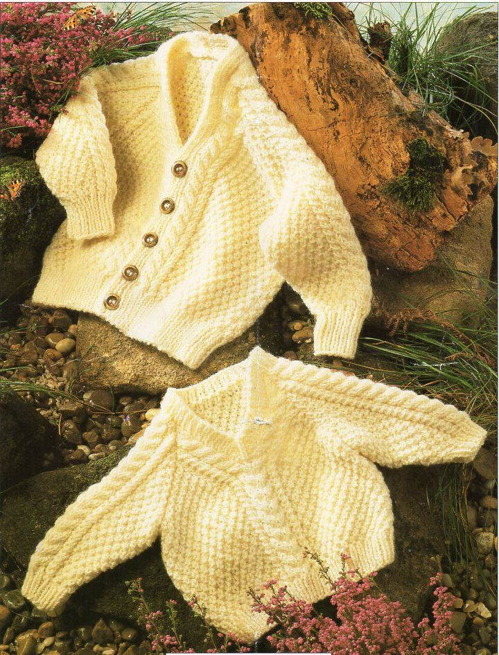 baby childs aran cardigan sweater knitting pattern pdf baby cable ...